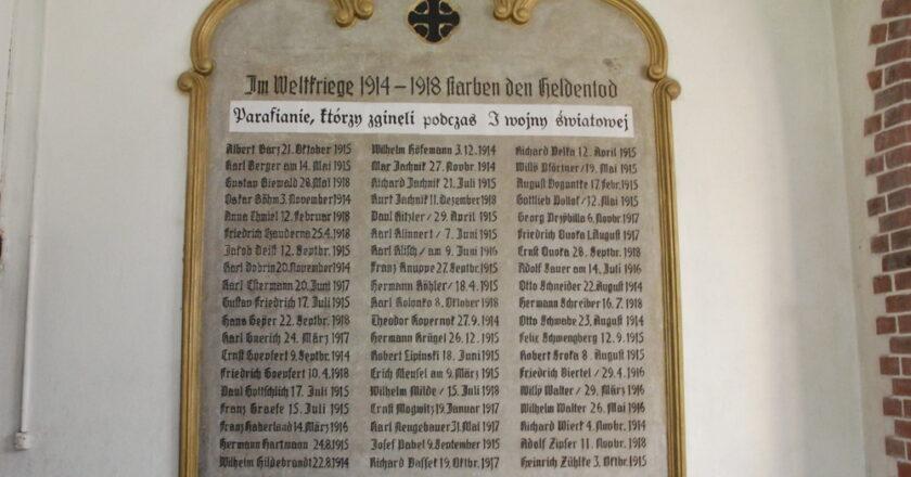 Tablica pamięci ofiar I wojny światowej