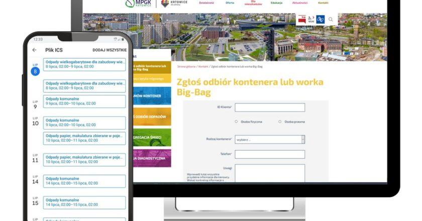 Nowa strona internetowa MPGK Katowice przypomni o terminie odbioru odpadów